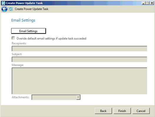 Configurações de E-mail