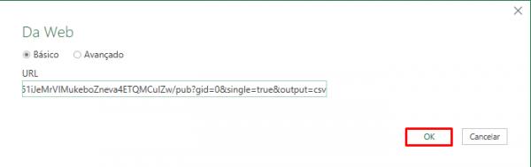 Importação de CSV Google - Excel