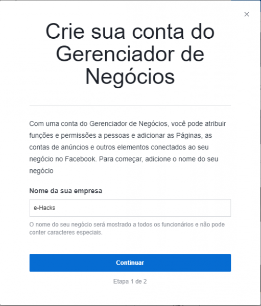 Nome da Empresa - FB Business Manager