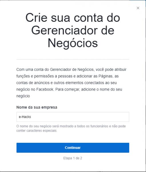Nome da Empresa - FB Business Manager