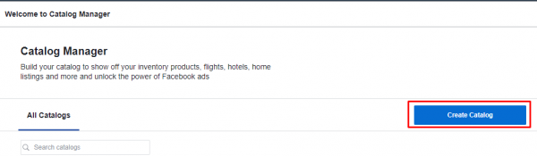 Criar Catálogo - Facebook Ads