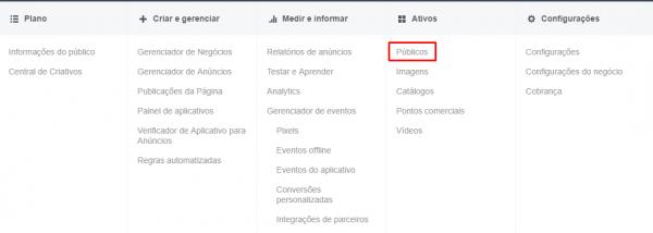 Públicos-alvo - Facebook
