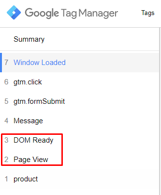 Pageview X DOM Ready