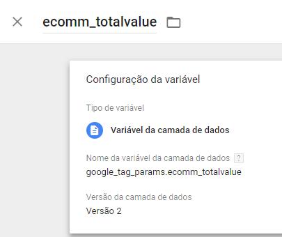 Variável: ecomm-totalvalue