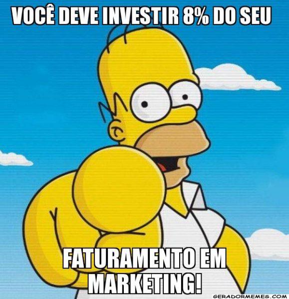 Você deve investir 8% do seu faturamento em marketing! Será?